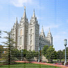 Temple Square, a granite structure that took 40 years to complete, and is a popular tourist destination.  Temple Square is own by The Church of Jesus Christ of Latter-day Saints, Salt Lake City, Utah.