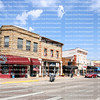 """Downtown street in Cody, founded in 1896 by Colonel William F. """"Buffalo Bill"""" Cody, designed with wide streets so his wagons could turn around."""