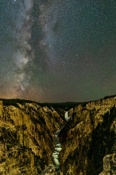 Milky Way Over Grand Canyon of the Yellowstone