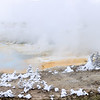 Fumaroles everywhere in Porcelain Basin