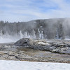 Grotto Geyser, a bizarre geothermal feature which regularly spurts water from various orifices!