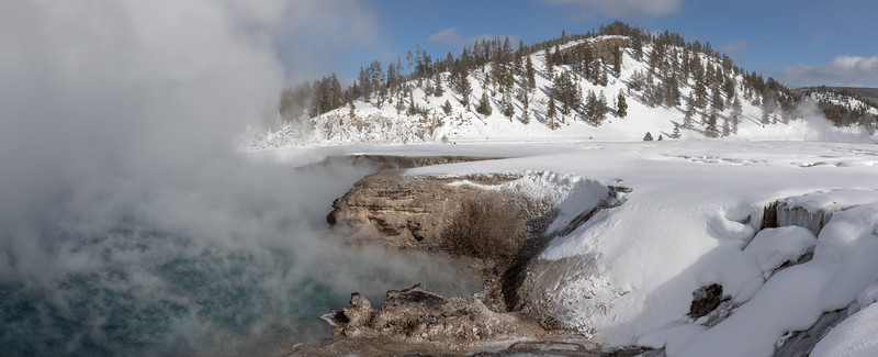 Boiling water at the edge of the Excelsior geyser