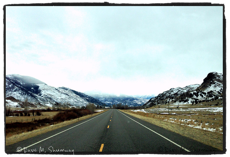iPhone snap of the drive to YNP.
