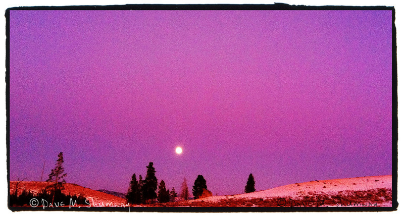 Sunset - Moonrise in Yellowstone National Park<br /> iPhone Snap