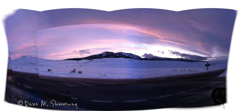 For fun I took a photo at sunset with 360Pan an app on my VZW iPhone 4, it did something very cool with the colors; but had some overlay issues.  NFS
