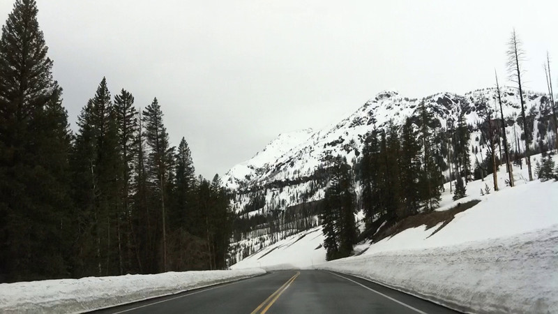 An iPhone driving time lapse of the drive from Cooke City through to Hitching Post pull-out.<br /> 1 shot each second played back at 15 fps.