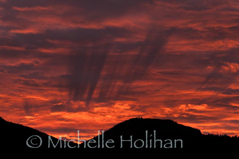 Sunset over Bunsen Peak