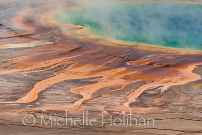 Detail of Grand Prismatic Hot Spring