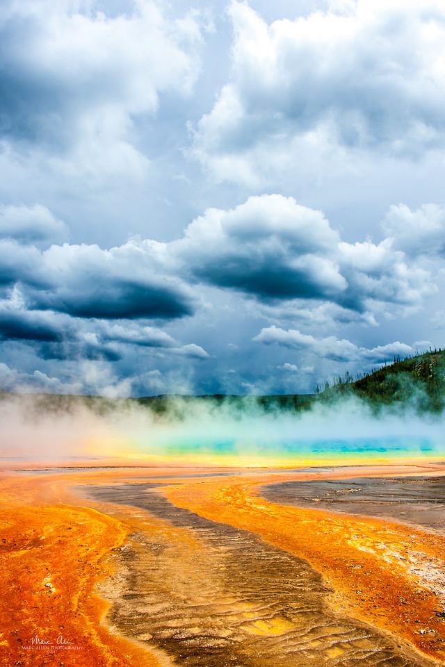 Grand Prismatic hot spring, June 26, 2014.
