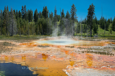 Orange Spring near Old Faithful.
