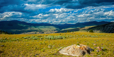 On the Beaver Pond Trail, at Mammoth, Yellowstone.  June 29, 2014.  I recommend purchasing this as a panorama print with an aspect ratio of 1:2.