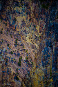 The walls of the Grand Canyon of Yellowstone, from Artist Point.  June 28, 2014.