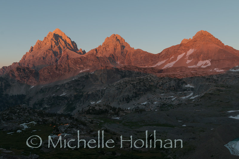 Sunset in Grand Teton National Park, WY from Hurricane Pass