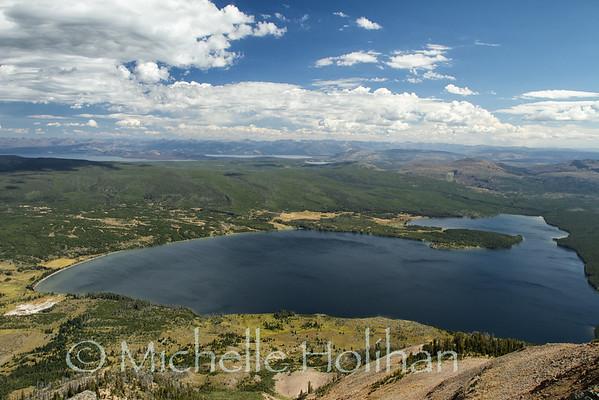 Heart Lake from Mt Sheridan