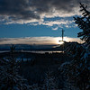 Sunrise at Yellowstone Lake by David Sparks in January 2019