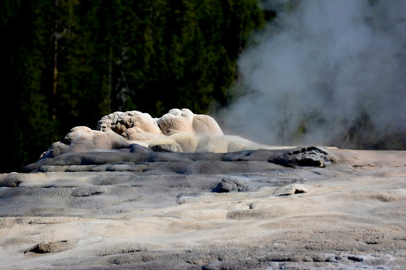 Old Faithful Geyser at rest