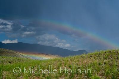 Rainbow in Yellowstone