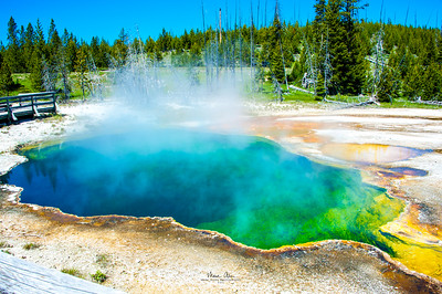 Abyss Pool at West Thumb Geyser Basin.  June 30, 2014.