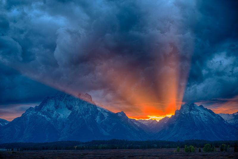 Sunset at Jackson Lake Lodge