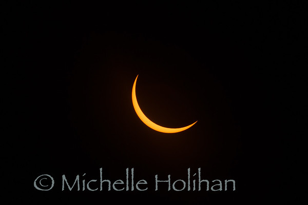 Partial solar eclipse from Grand Teton National Park, WY