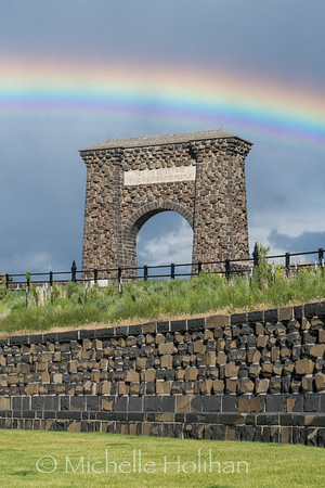 Rainbow over the Roosevelt Arch
