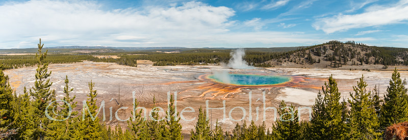 Panorama of Grand Prismatic Hot Spring