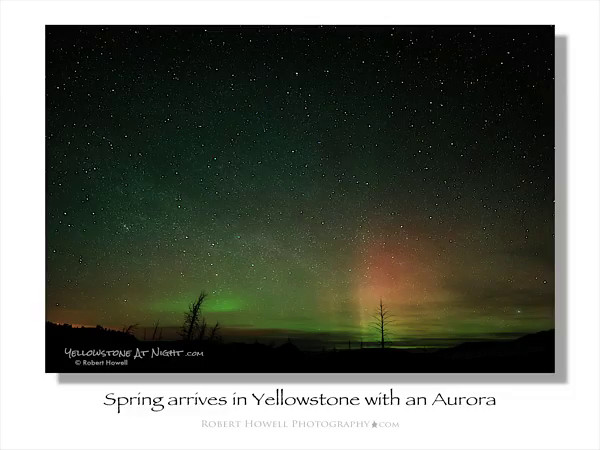 Click this image for a 11sec timelapse  ~~~~~~~~~~ of a 30 minute Aurora Borealis show.