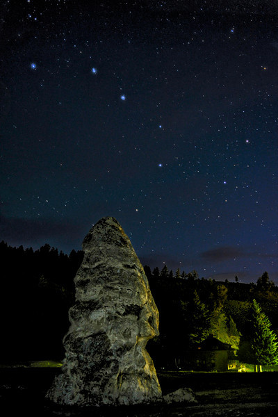 "Liberty Cap and Big Dipper      ____ 2726Kv<br /> <br /> Hang this gorgeous metal print on your wall for a real conversation piece<br /> of your trip to Yellowstone ! <br /> <br /> This unique image is fused directly onto a specially treated, rigid piece of Aluminum.<br /> More archival and lighter than a framed paper print, it arrives ready to hang.<br /> The Float-Mounted MetalPrint™ needs no frame and<br /> will appear to float 3/4"" from your wall.<br /> <br /> Archival paper prints are also available<br /> ------- Contact us for more information -------<br /> moreinfo@RobertHowellPhotography.com"
