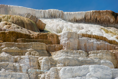 Mammoth travertine terraces