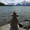 Someone made a cairn with two little nipples on top, which seems especially appropriate in front of the Grand Tetons (snicker)