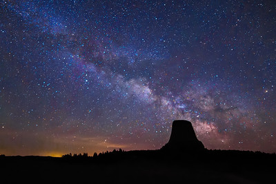 Devils Tower and the Milky Way