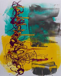 """Lotus"" (acrylic on paer) by Bojana Ilic"