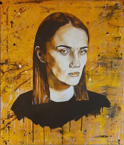 """I know everything"" (oil on canvas) by Ekaterina Zhavoronok"