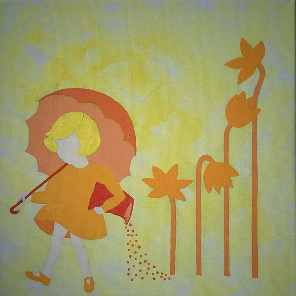 """when it reigns it pours"" (acrylic) by Lena Egbert"