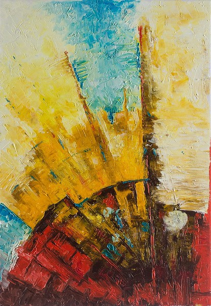"""""""Roman roads"""" (oil on canvas) by Evgeny Yakovlev"""