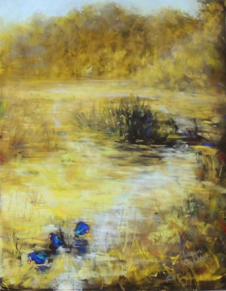 """Nature's Solitude"" (soft pastel) by Sharyn Lightfoot"
