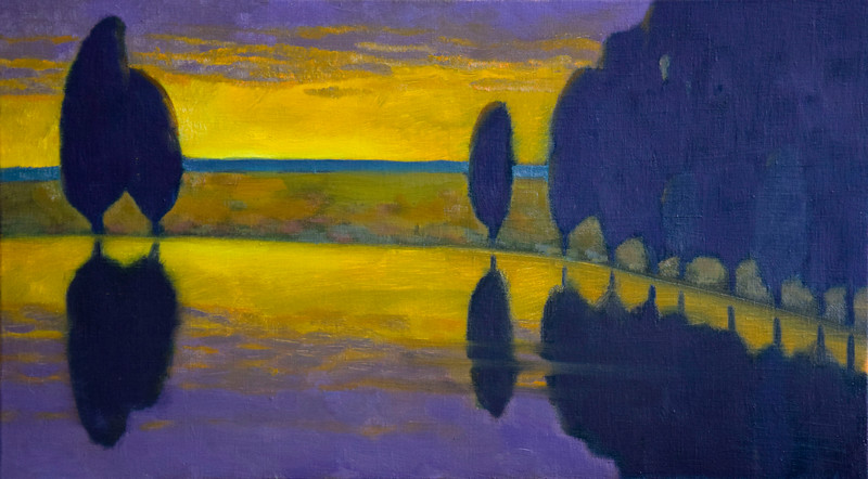 """On the shore"" (oil on canvas) by Ekaterina Krestova"