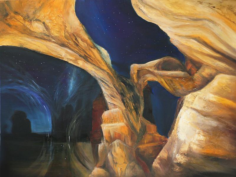 """Star gates"" (oil on canvas) by Marina Alekaseeva"