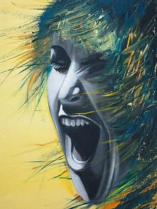 """""""Banshee"""" (oil on canvas) by Marina Alekaseeva"""