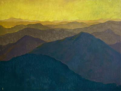 """Music of the Mountains"" (oil on canvas) by Ekaterina Krestova"