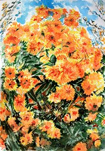 """Cone flower"" (watercolor) by Victor Ovsyannikov"