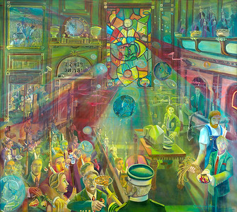 """Pulp Minerals & Spirit"" (oil on canvas) by Christopher Lane"