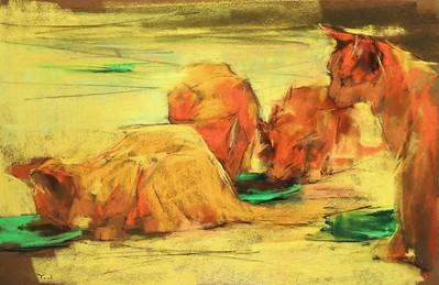 """""""Heat Wave"""" (soft pastel) by Yael Maimon"""
