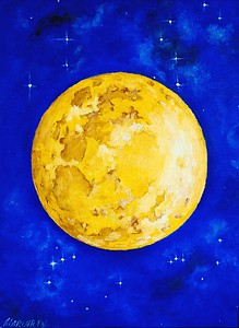 """""""La Luna"""" (oil on linen) by Marina Mariarty"""