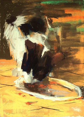"""Breakfast"" (soft pastel) by Yael Maimon"