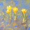 """Yellow flowers"" (oil on canvas) by Talia Stegniy"