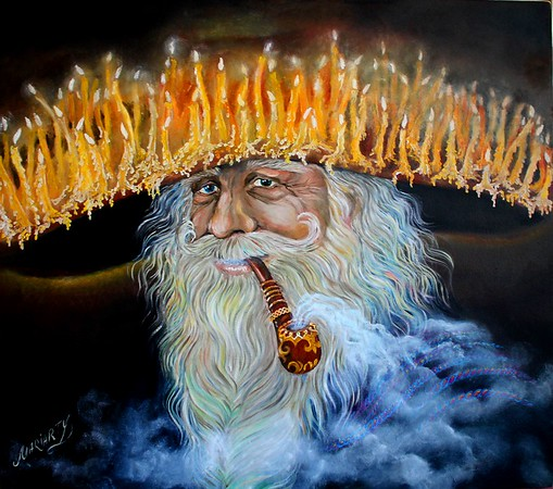 """The Magician"" (oil on canvas) by Marina Mariarty"
