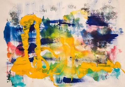 """""""Depth over distance"""" (acrylic on row canvas) by Bojana Ilic"""