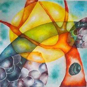 """Sunset"" (Ecoline) by Hoda Mirmohammadi"