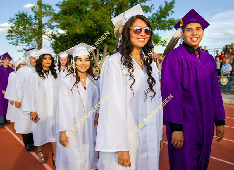 Graduating seniors walk in during the Processional